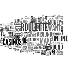 Win roulette easy tips to maximize your profits vector