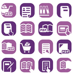 Color books icons set vector