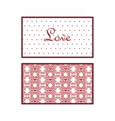 Valentines day lace invitation card vector