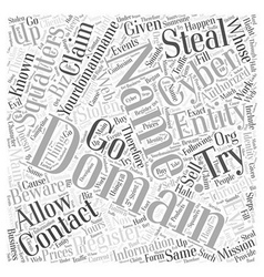 Beware of the cyber squatters word cloud concept vector