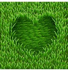 Heart on green grass vector