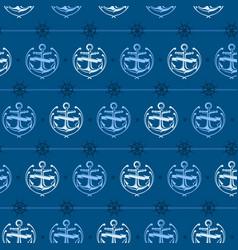 Nautical background anchor vector