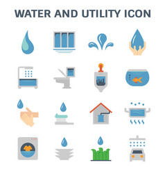 Water utility icon vector