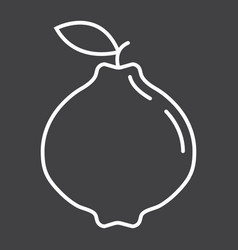 quince line icon fruit and diet vector image