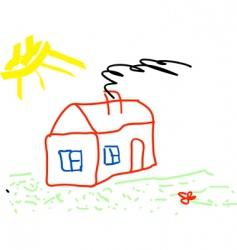 kids drawing vector image