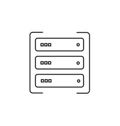 Data server icon vector