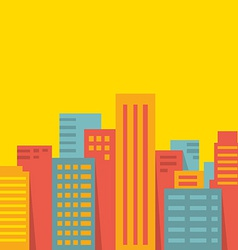 Background big city vector