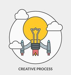 Flat design concept for creative process fo vector