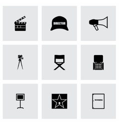 Filming icon set vector