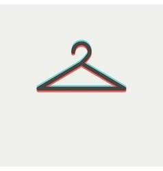 Hanger thin line icon vector image