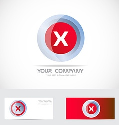 Letter x red logo vector