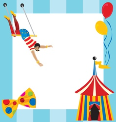 Circus party invitation vector