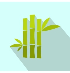 Green bamboo stem flat icon vector