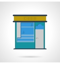 Storefronts flat color icon news stall vector