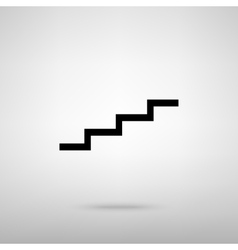 Stair up sign vector