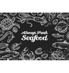 Seafood template design menu restaurant or cafe vector