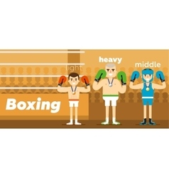 Boxing team awarding at ringside vector