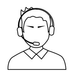 Avatar man with headphones vector