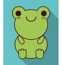 Kawaii frog icon cute animal graphic vector