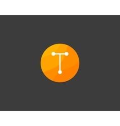 Abstract letter t logo design template dot line vector