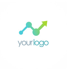 arrow business progress logo vector image