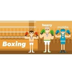 Boxing team awarding at ringside vector