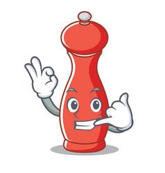 Call me pepper mill character cartoon vector
