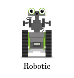Color of the robot vector