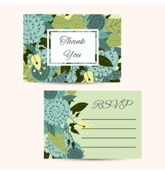 Cute invitation template with flower decoration vector