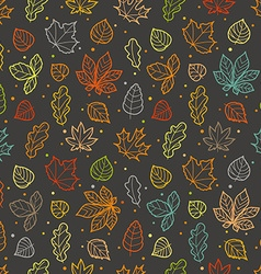 Different leaves silhouettes seamless pattern vector