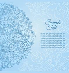 Doodle floral ethnic card floral card winter vector