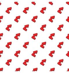 Fat arrow pattern cartoon style vector