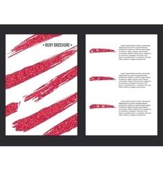 Golden brochure template 1 vector