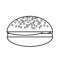 Hamburger isolated icon vector
