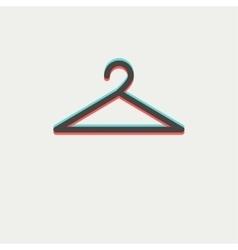 Hanger thin line icon vector image