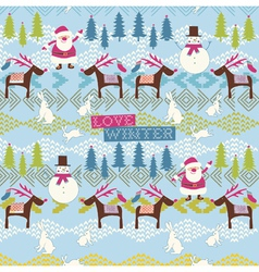 love winter vector image