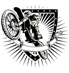 Motorcross shield vector