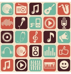 Music seamless pattern vector