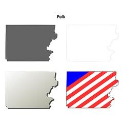 Polk map icon set vector