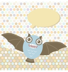 Polka dot background pattern Funny cute bat vector image