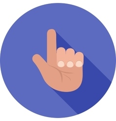 Raised finger vector