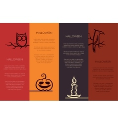 Retro graphical templates with halloween element vector