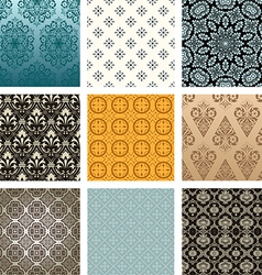 Retro pattern set vector