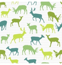 Retro pattern with deers vector image