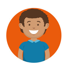Smiling man icon vector