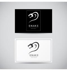 snake simple black logo design element vector image vector image