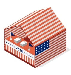 Tent for a vote united states presidential vector