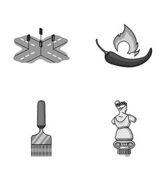 Transport and other monochrome icon in cartoon vector