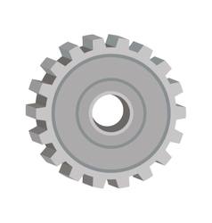 tridimensional silhouette gear wheel icon vector image