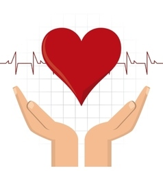 Arm heart hand blood donation icon graphic vector